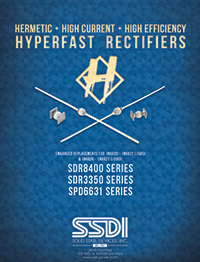 SDR8400, SDR3350, and SPD6631 Hyperfast Rectifiers
